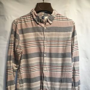 Striped Long Sleeved Collered Shirt